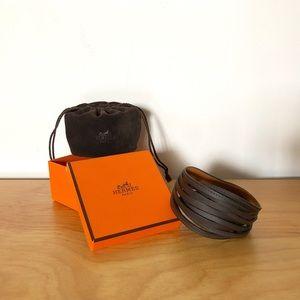Hermes - Leather Interlocking Weave Bracelet